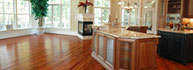 Gorgeous kitchen and dining room with hardwood flooring