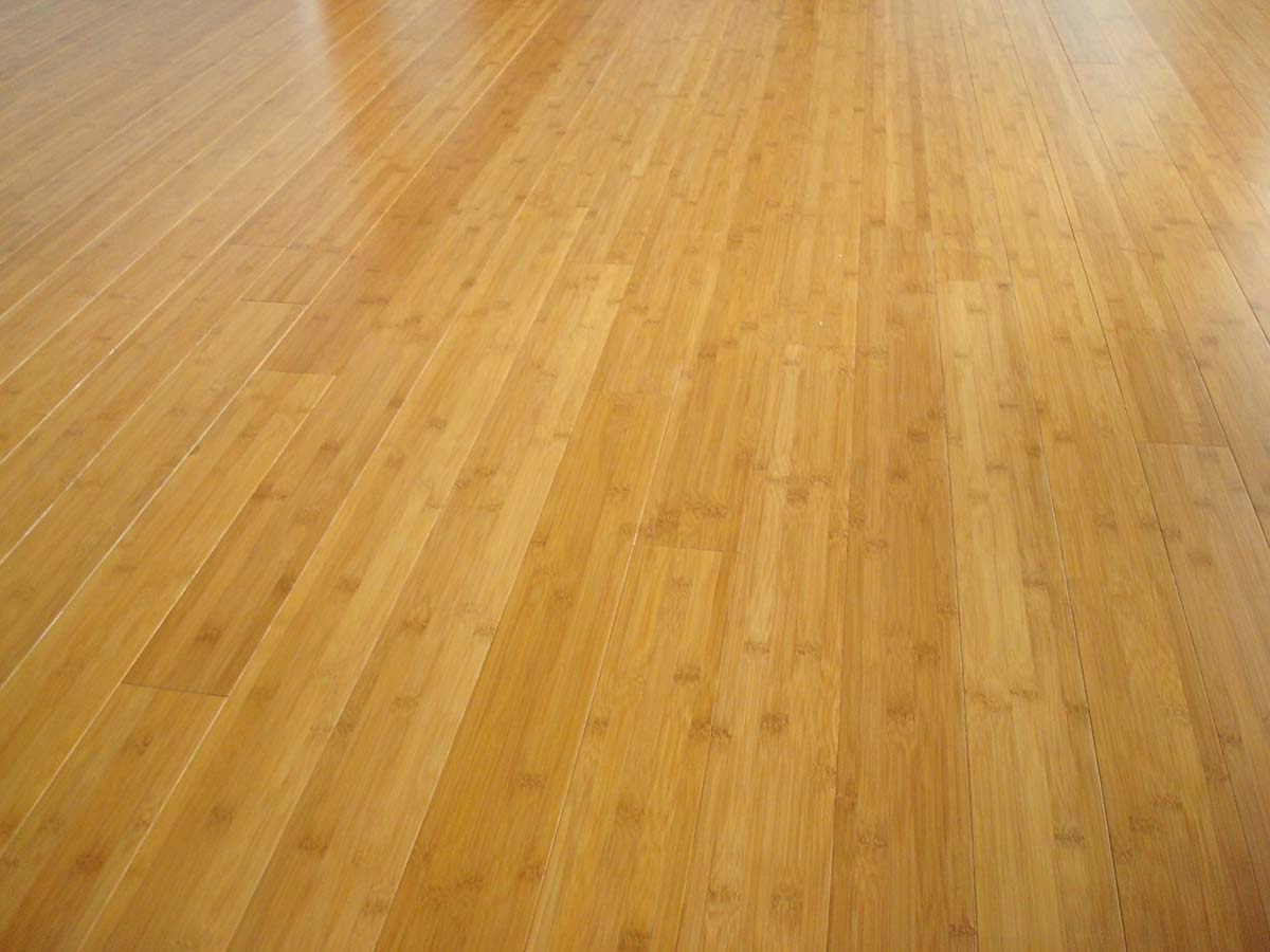 Prefinished Bamboo Floor Caramelized Horizontal Grain Seattle Wa