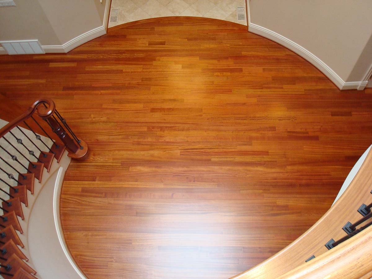Refinished Brazilian Cherry Hardwood Floor Na Wa