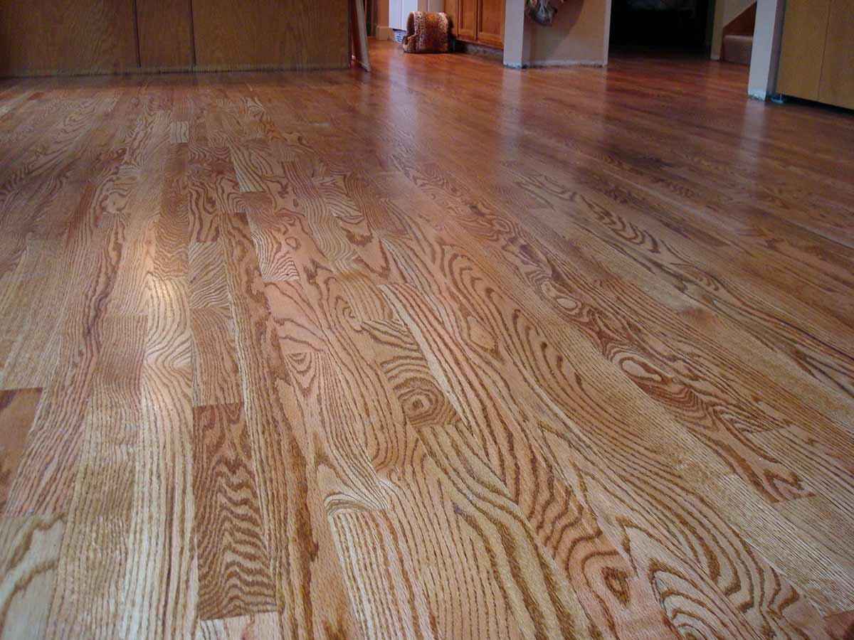 Red Oak Hardwood Floor Stained Bot Wa