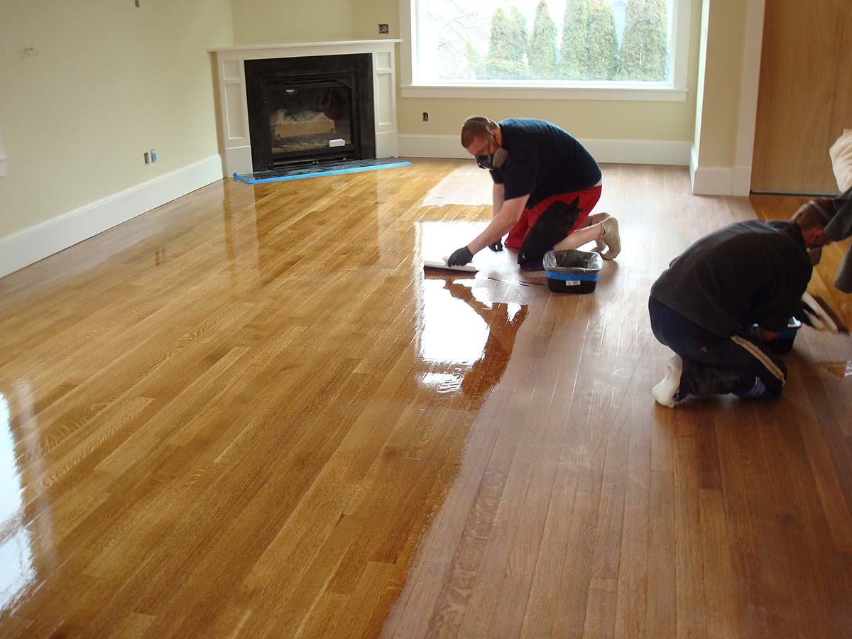 Coating A Stained Rift Quartered White Oak Hardwood Floor Seattle Wa